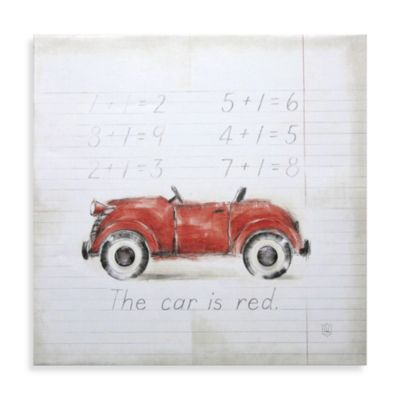 Red Kids Wall Decor
