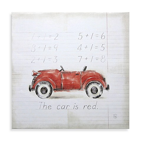 Vintage Red Car Wall Art