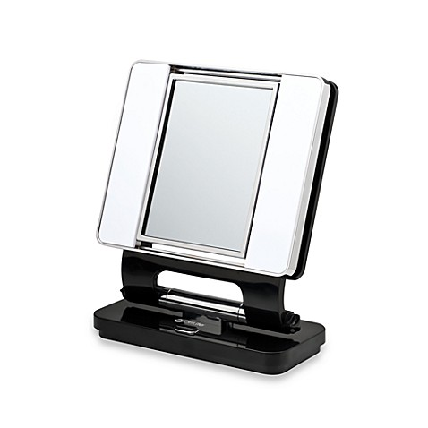 OttLite® Natural Daylight 5X/1X Makeup Mirror in Black