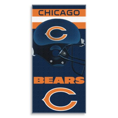 NFL Chicago Bears Shadow 30-Inch x 60-Inch Beach Towel