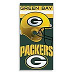 NFL Green Bay Packers Shadow 30-Inch x 60-Inch Beach Towel