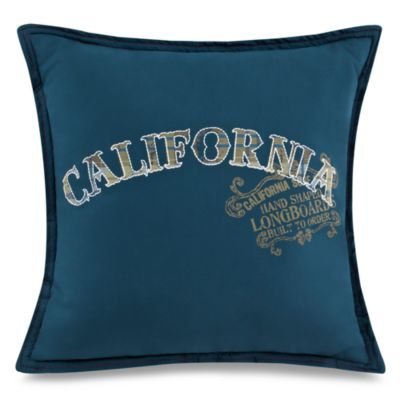 Wave Rider 16-Inch Square Toss Pillow