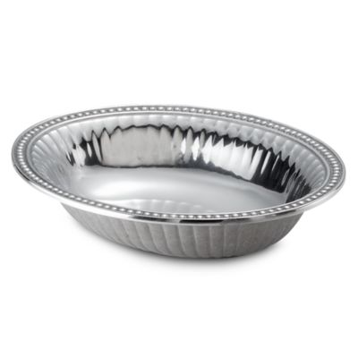 Flutes and Pearls 2-Quart Medium Oval Bowl