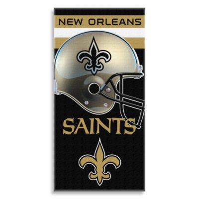 NFL New Orleans Saints Shadow 30-Inch x 60-Inch Beach Towel