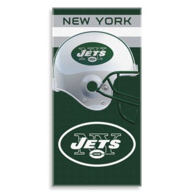 NFL New York Jets Shadow 30-Inch x 60-Inch Beach Towel
