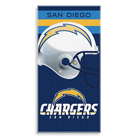 NFL San Diego Chargers Shadow Beach Towel