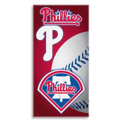MLB Philadelphia Phillies 30-Inch x 60-Inch Beach Towel
