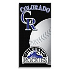 MLB Colorado Rockies 30-Inch x 60-Inch Beach Towel