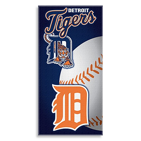 MLB Detroit Tigers 30-Inch x 60-Inch Beach Towel