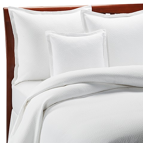 Barbara Barry Beautiful Basics Cloud Nine Coverlet in Pure White