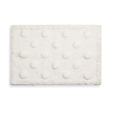 kate spade new york Larabee Dot Bath Rug in White