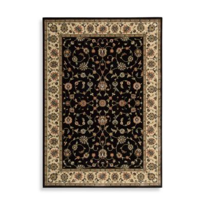 Nourison Persian Arts Kashan Black 2-Foot 3-Inch x 8-Foot Runner