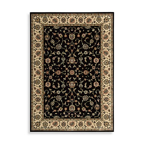 Nourison Persian Arts Kashan Black 2-Foot 3-Inch x 12-Foot Runner
