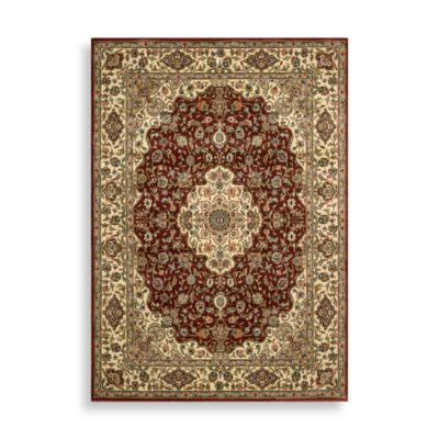 Nourison Persian Arts Kirman 7-Foot 9-Inch Octagonal Rug in Brick Red