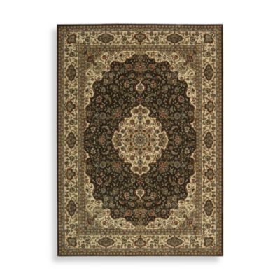 Nourison Persian Arts 5-Foot 3-Inch Octagonal Rug in Kirman Chocolate
