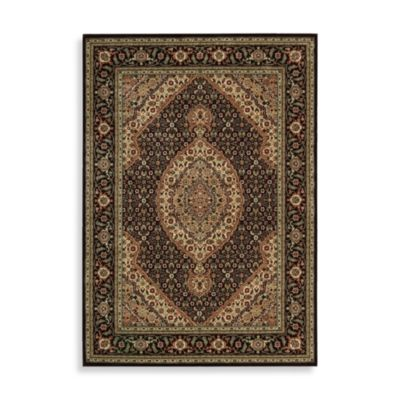 Nourison Persian Arts Mahi 5-Foot 3-Inch Octagonal Rug in Black