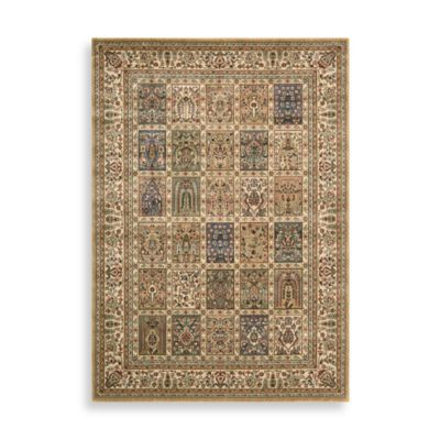 Nourison Persian Arts 2-Foot 3-Inch x 8-Foot Panel Runner in Beige
