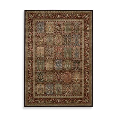 Nourison Persian Arts 5-Foot 3-Inch Octagonal Panel Rug in Brown