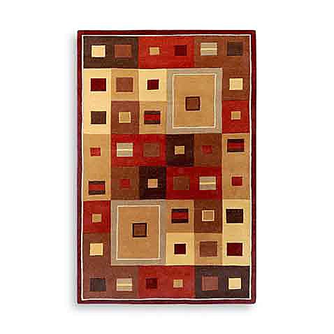 Gloucester Amherst Wool Rectangle Rugs in Burgundy