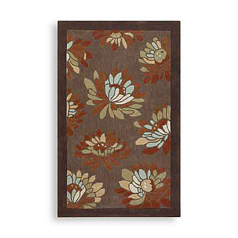 Surya Blossoms Chocolate 2' x 3' Rectangle Rug