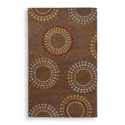 Bayonne Dazzle Rectangle Rugs in Chocolate