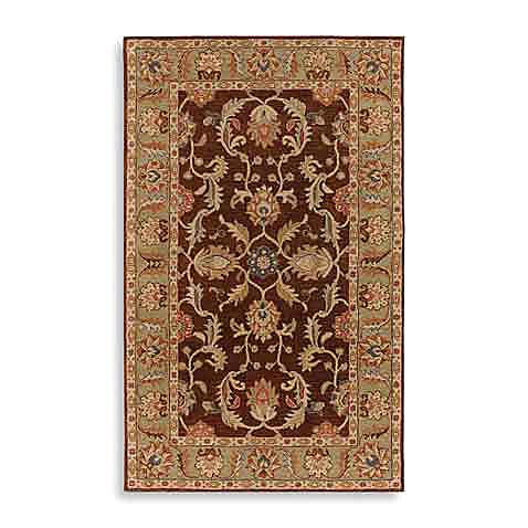 Paterson Wool Rectangle Rugs in Chocolate