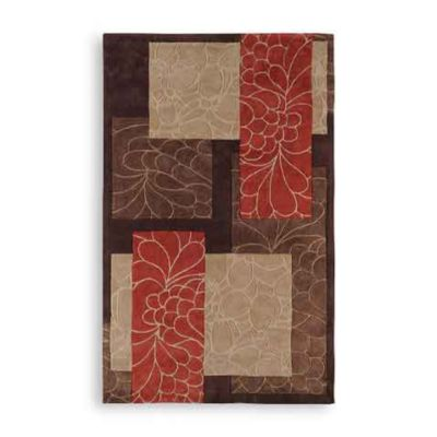 Trenton Cosmopolitan Patchwork Rectangle Rugs in Chocolate