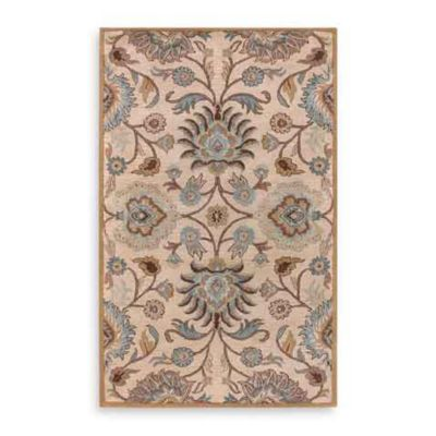 Style Statements Athena II Wool 5-Foot x 8-Foot Area Rug in Taupe