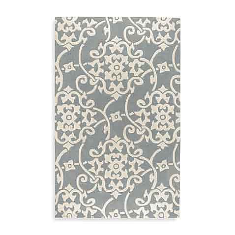Edison Rectangle Rugs in Serenity Blue