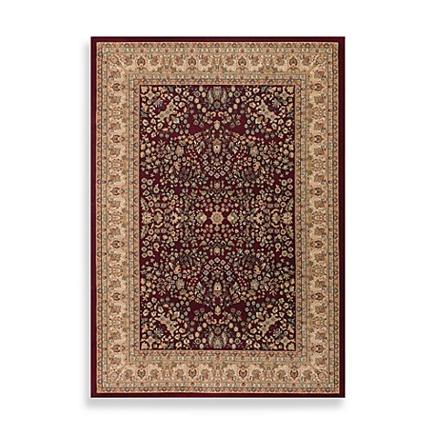 Couristan® Izmir Collection Floral Mashhad Persian Red Rectangle Rugs