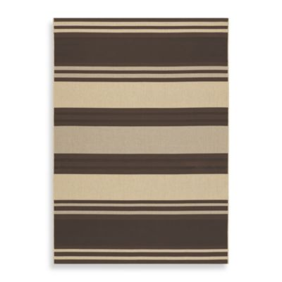Couristan® Five Seasons South Padre Chocolate/Cream Indoor/Outdoor Rugs