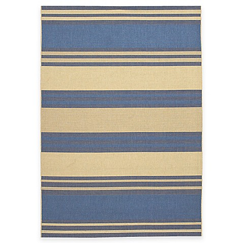 Couristan® Five Seasons Collection South Padre Indoor/Outdoor Rugs in Blue/Cream