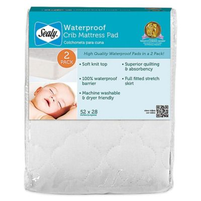 Set of 2 Waterproof Crib Pad
