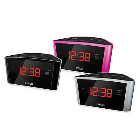 HMDX® Eclipse Alarm Clock - Black
