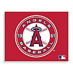 MLB Los Angeles Angels of Anaheim Logo Canvas Wall Art
