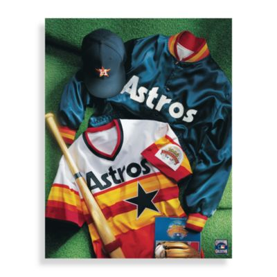 MLB Houston Astros Vintage Collage Canvas Wall Art
