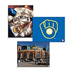 MLB Milwaukee Brewers Canvas Wall Art