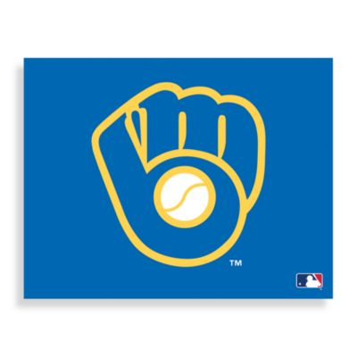 MLB Milwaukee Brewers Logo Canvas Wall Art