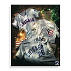 MLB Chicago Cubs Vintage Collage Canvas Wall Art