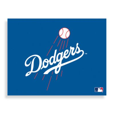 MLB Los Angeles Dodgers Logo Canvas Wall Art