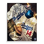 MLB Los Angeles Dodgers Vintage Collage Canvas Wall Art