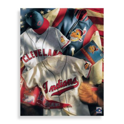 MLB Cleveland Indians Vintage Collage Canvas Wall Art