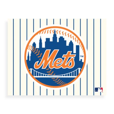 MLB New York Mets Logo Canvas Wall Art