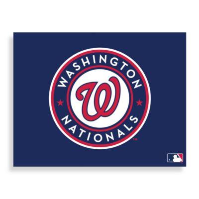 MLB Washington Nationals Logo Canvas Wall Art