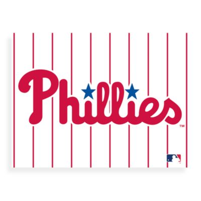 MLB Philadelphia Phillies Logo Canvas Wall Art