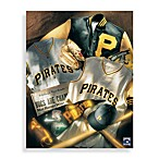 MLB Pittsburgh Pirates Vintage Collage Canvas Wall Art