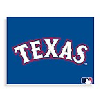 MLB Texas Rangers Logo Canvas Wall Art