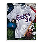 MLB Texas Rangers Vintage Collage Canvas Wall Art