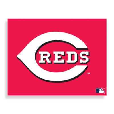 MLB Cincinnati Reds Logo Canvas Wall Art