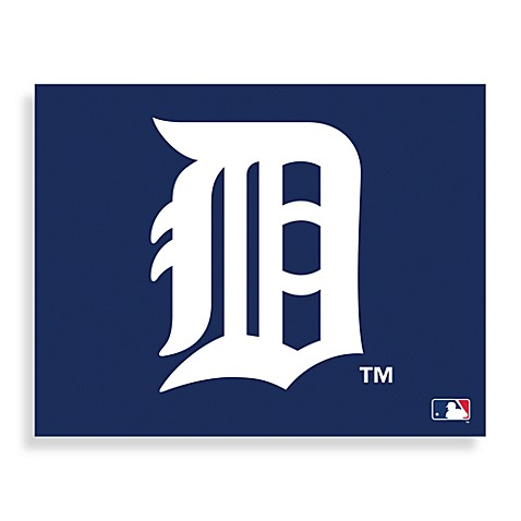 MLB Detroit Tigers Logo Canvas Wall Art